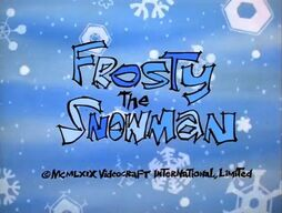 Frosty the snowman title card