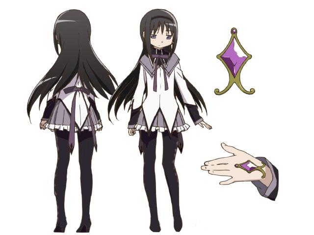 File:Homura Akemi Anime Design.jpg