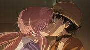 Yukiteru and Yuno (First Kiss)