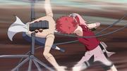Sakura destroys Sasori's body