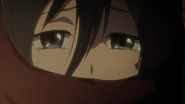 Snk-ep6-mikasa in tears with scarf