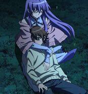 Sheele hugs Tatsumi Stitched Cap Front Ep 5
