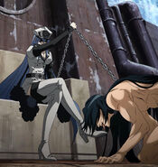 Esdeath's Treatment of Numa Stitched Cap Akame ga Kill Ep 05
