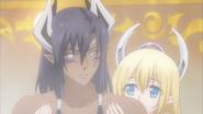 Leohart and Liala in bath (Testament of Sister New Devil Burst 06)