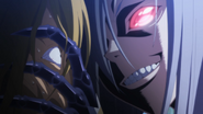 Rachnera scaring Racist Man (Monster Musume Ep08)