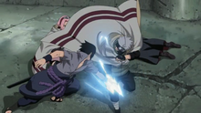 Kakashi saves Sakura