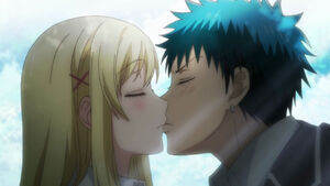 Yamada and 7 Witches Ep 1 Yamada and Shirashi kiss