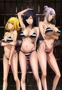 Meiko Shiraki, Mari Kurihara, and Hana Midorikawa Prison School (Nyantype 70)
