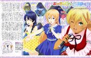 Food Wars Erina, Megumi, Nikumi (Animedia magazine Sep 2015)