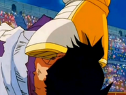 Videl head stped on