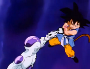 Frieza after punching gt kid goku in the stomach4