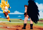Raditz vs kid goten