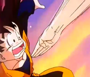 Chichi smacked goten in the stomach