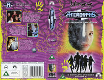Animorphs VHS 1.2 UK volume front back spine On the Run Between Friends The Message