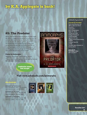 File:The Predator relaunch book ad from scholastic paperback catalog fall 2011.jpg