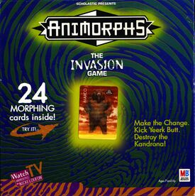 Animorphs the invasion game box front cover top