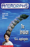 Animorphs 1 the invasion UK cover earlier printing