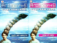 Animorphs 1 the invasion Cuộc xâm lăng vietnamese covers books 1 and 2