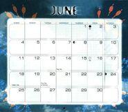 7 2000 calendar June month