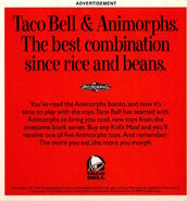 Animorphs Taco Bell toys Advertisement in Nickelodeon Magazine November 1998