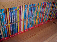 Animorphs norwegian book spines