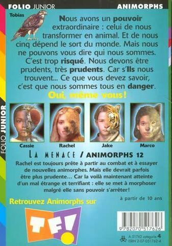 File:Animorphs 12 the reaction french back cover.jpg