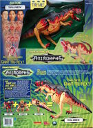 Transformers super tri rex box front and back