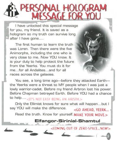 File:Animorphs Alliance Flash issue 12 Personal Hologram Message Elfangor.jpg