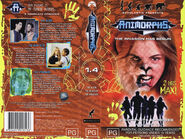 Animorphs VHS 1.4 Australian volume front back spine the alien reaction stranger