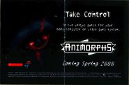 Take control ad postcard