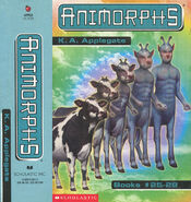Animorphs boxed set 7 books 25-28 spine and side