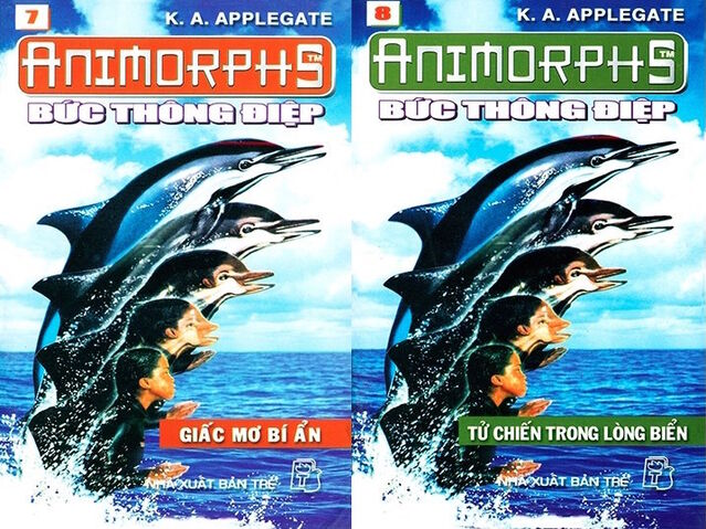 File:Animorphs 4 the message Bức thông điệp vietnamese covers books 7 and 8.jpg