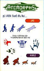 Animorphs 37 the weakness italian stickers adesivi