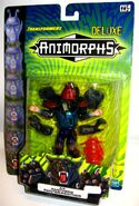 Transformers human ax panther on card with translation front