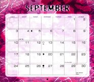 10 2000 calendar September month