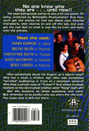 Meet the stars of the animorphs back cover