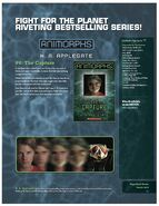 Animorphs book 6 The Capture 2011 relaunch product page