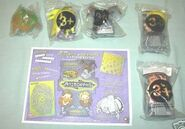 Pizza hut animorphs placemat plus all 5 toys