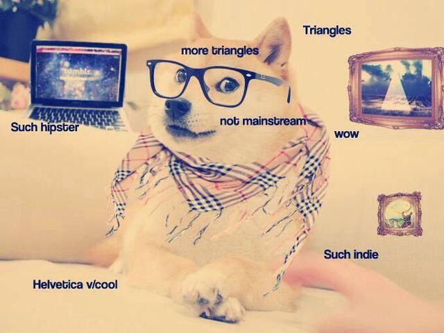 File:Hipster Doge.jpg