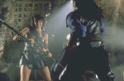 Xena Fighting Draco