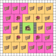 Fields of 6 rectangles