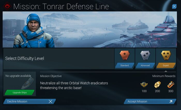 Mission Tonrar Defense Line Expert