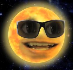 Annoying Orange the sun