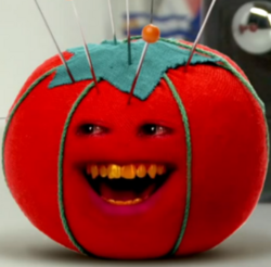 Voodoo doll as orange