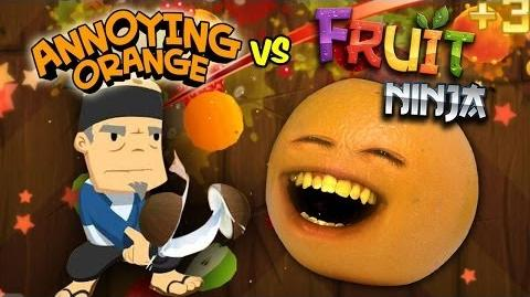 Video - Annoying Orange Vs. Fruit Ninja | Annoying Orange ...