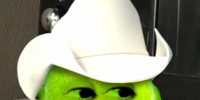 Strange Lime Who Wears A Cowboy Hat