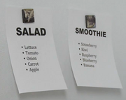 The Recipes for Salad and Smoothie