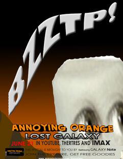 Annoying orange lost galaxy poster 9