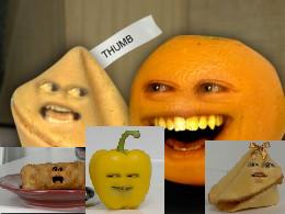 Annoying Orange Yellow Peppers Or Yegg Rolls