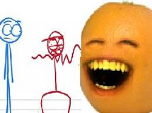 Annoying Orange Dick Figures